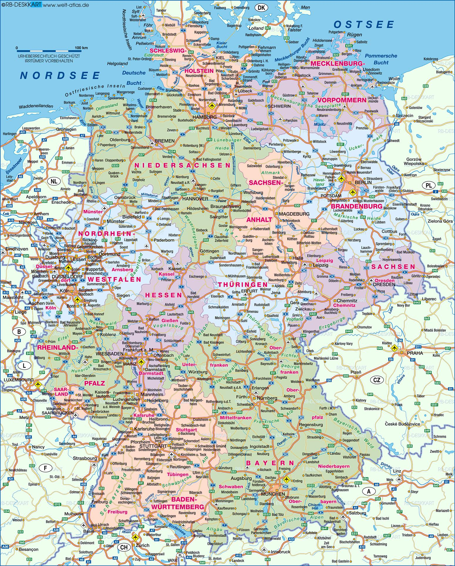 Show Me A Map Of Germany.Germany Map Show Me A Map Of Germany Western Europe Europe