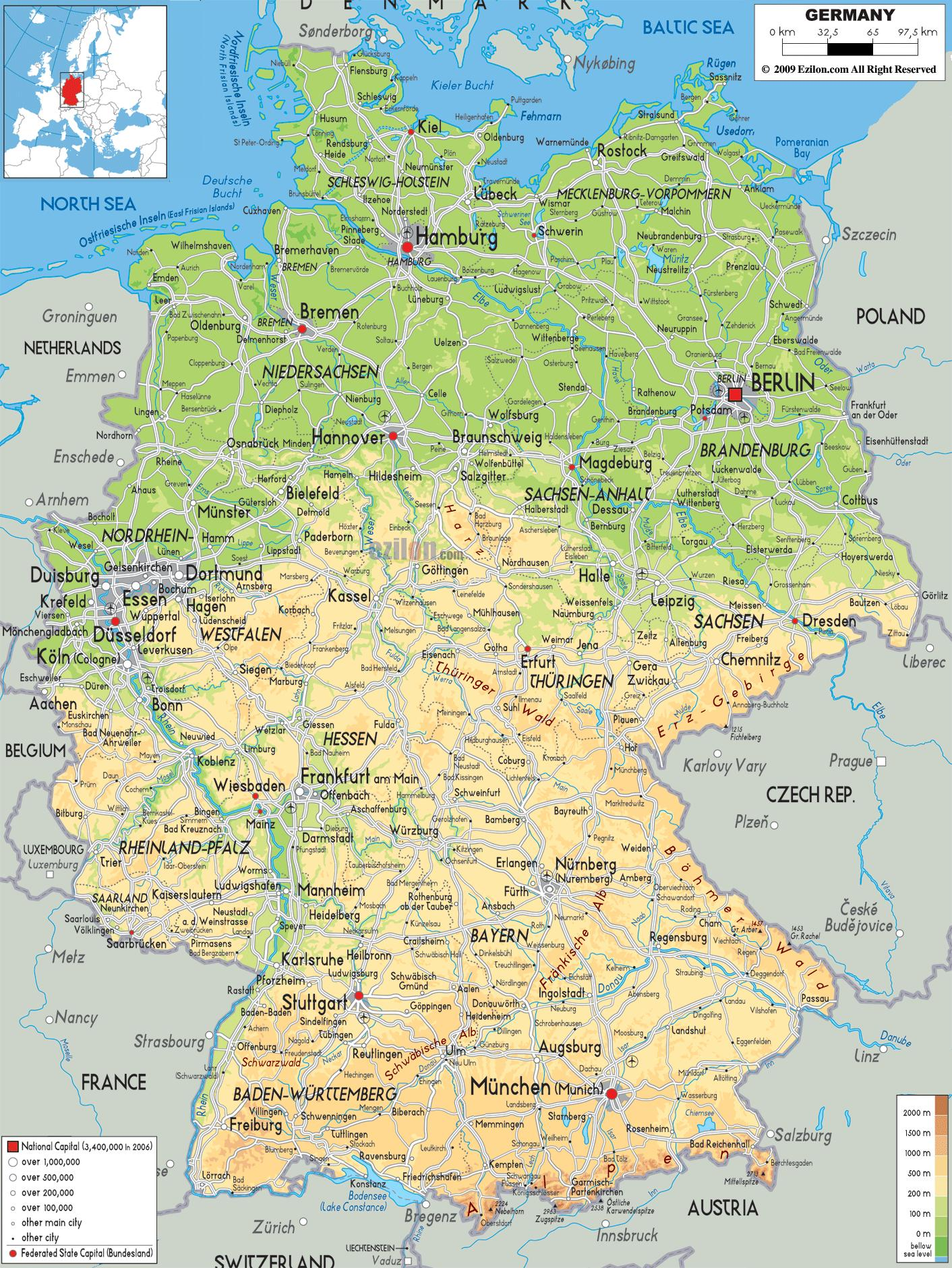 Michelin Maps Germany Germany Highway Map Western Europe Europe