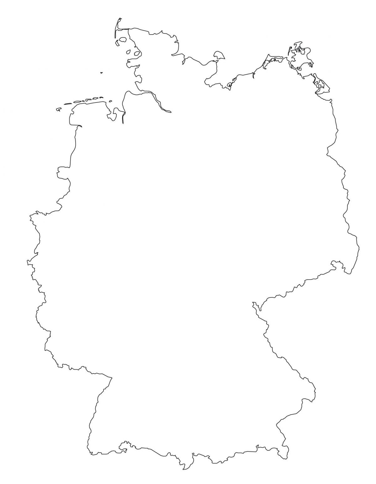 Germany map outline - Blank map of Germany (Western Europe ...