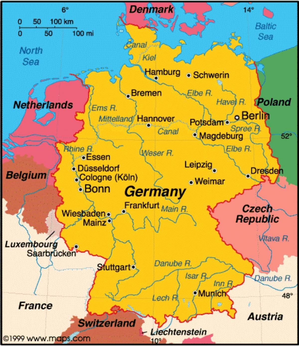 Germany maps Show map of Germany Western Europe Europe