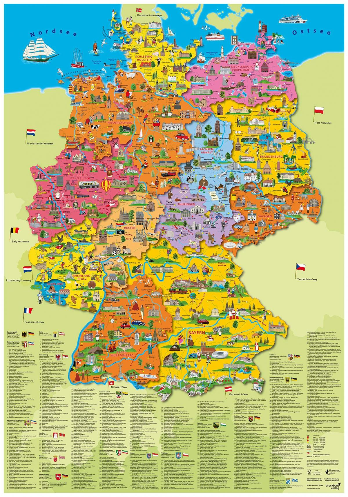 Tourist Map Of Germany With Cities.Germany Tourist Map Tourist Map Of Germany With Cities Western