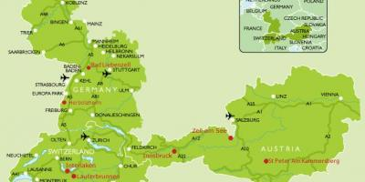 Map of Germany camping