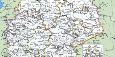 Germany map: geographic map, road map and touristic map of ...