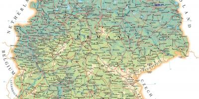 Detailed Map Of Germany.Detailed Map Of Germany Labeled Map Of Germany Western Europe