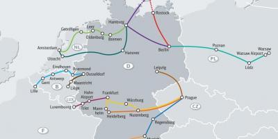 germany map maps germany western europe europe