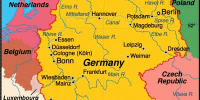 Show map of Germany