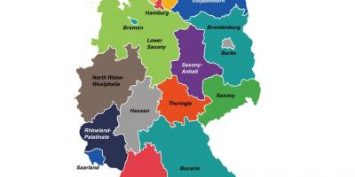 Germany regions map
