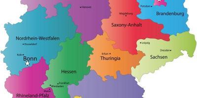 Map of Germany state