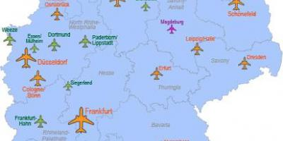 International Airports Map Of Germany Map Brandenburg Germany - Map of major us airports