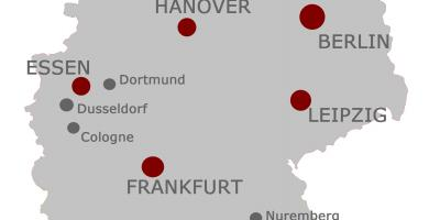 Map Of Germany Showing Major Cities.Germany Map Maps Germany Western Europe Europe