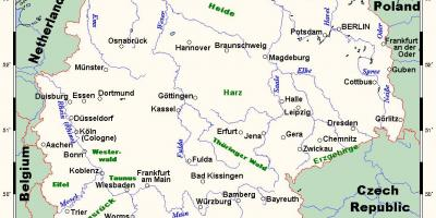 Map of Germany rivers